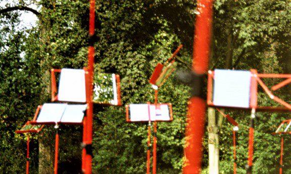 Spiegelsinfonie im Rahmen der Euroga 2002, Kunstpfad, Städtisches Museum Schloß Rheydt, Mönchengladbach